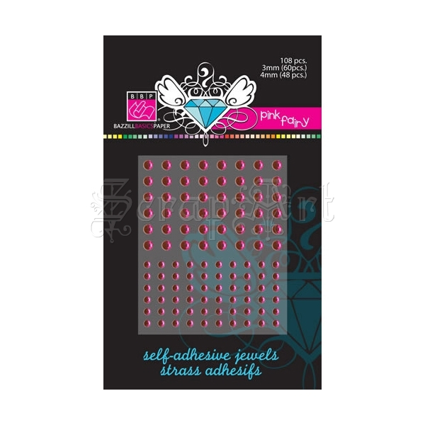 Self Adhesive Jewels Pink Fairy - Bazzill Basic Paper