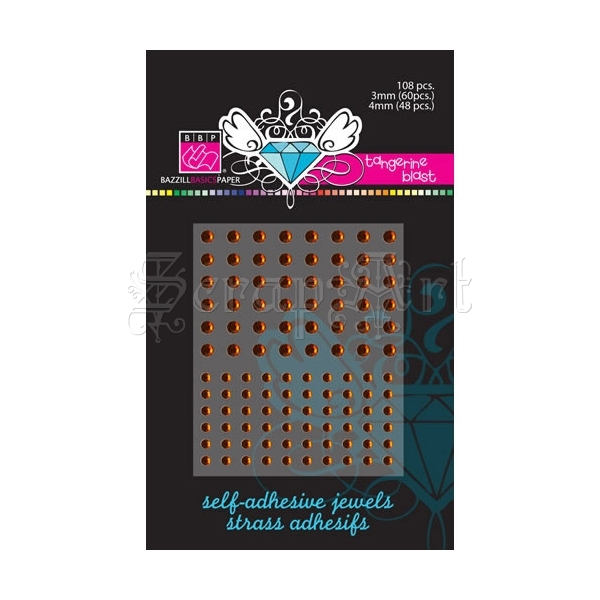 Self Adhesive Jewels Tangerine Blast - Bazzill Basic Paper