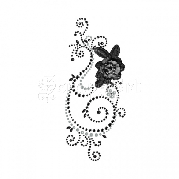 Say It In Swirl W Flower Black S 544577 - Prima Marketing