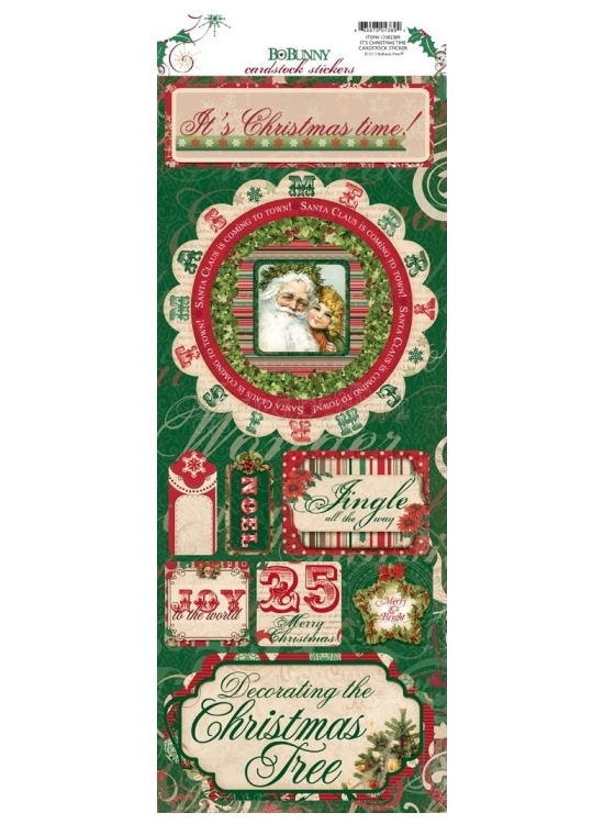 It´s Christmas Time Cardstock Stickers - Rejoice - Bo Bunny