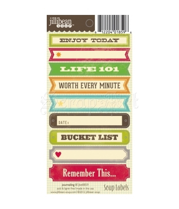 Journaling II Soup Labels - Cardstock Stickers