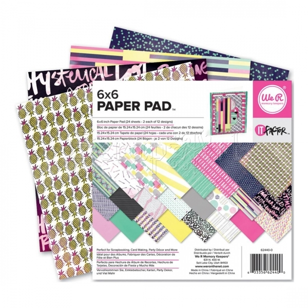 "scrapbookové čtvrtky 6x6"" - It Factor Paper Pad - We-R-Memory Keepers"