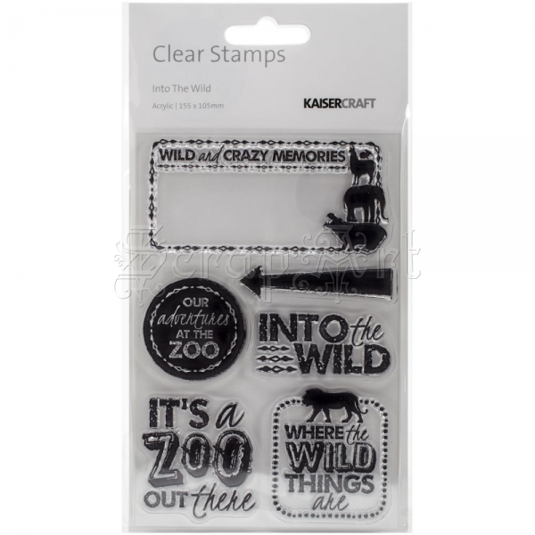 silikonová razítka - Into The Wild Clear Stamps KaiserCraft