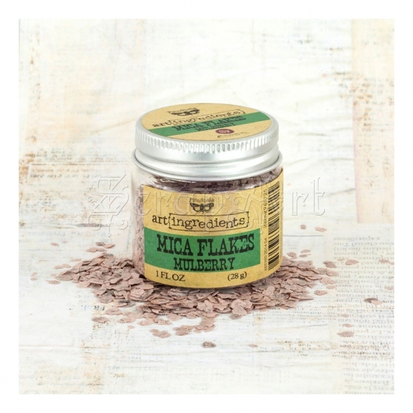 Art Ingredients Mica Flakes Mulberry - Finnabair by Prima Marketing Inc.