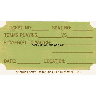Spirit - Ticket - Die Cut - Shining Star - 29th street market