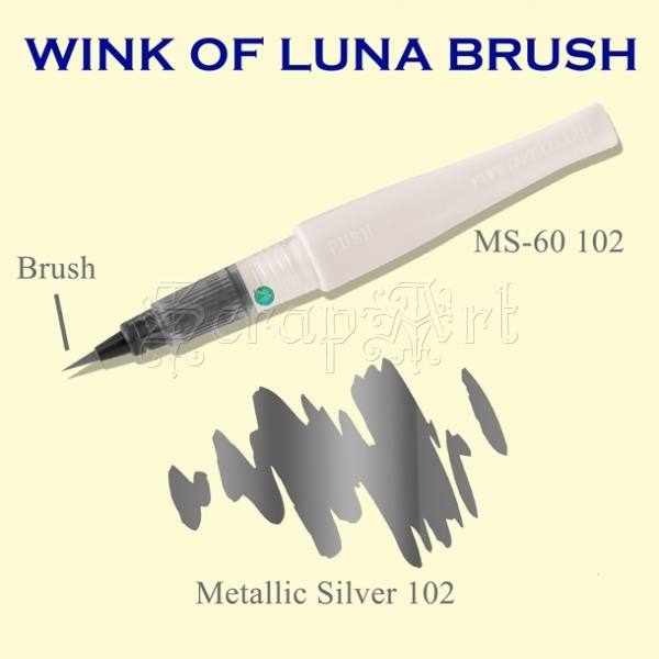 Wink of Luna Brush Silver Metallic - Kuretake