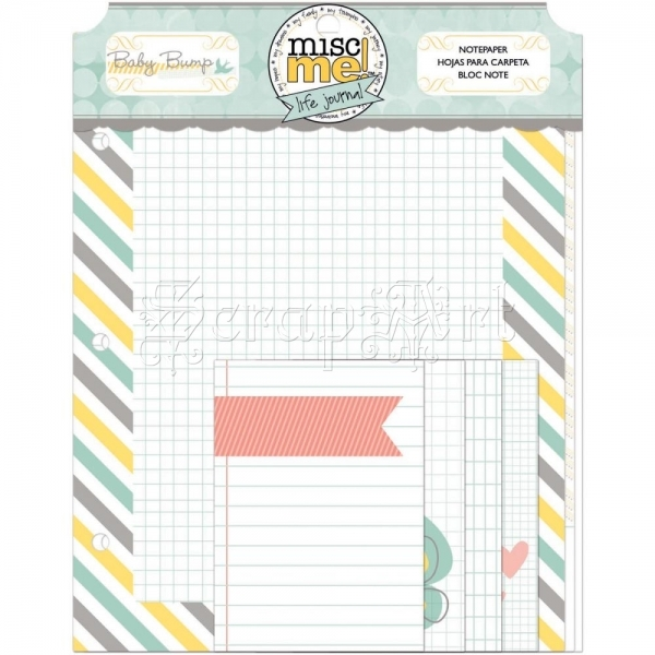 Baby Bump Note Paper - Misc Me! - Bo Bunny
