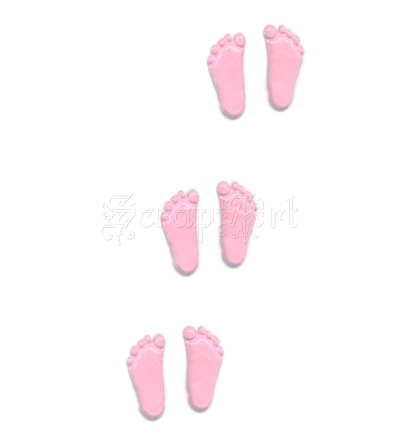 Feet Pink Brads - Eyelet Outlet