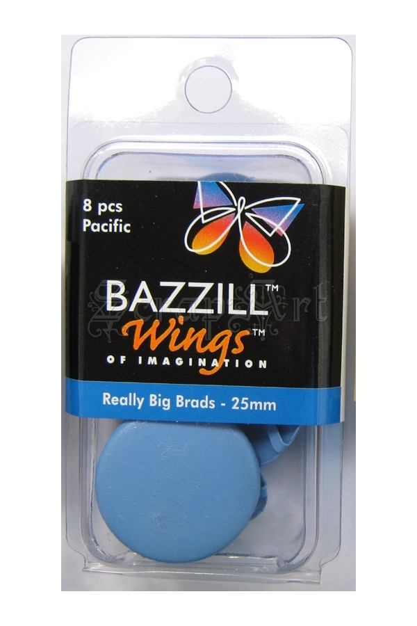 Really Big Brads 25mm Pacific - Bazzill Basic Paper