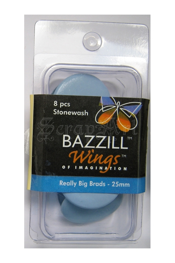 Really Big Brads 25mm Stonewash - Bazzill Basic Paper