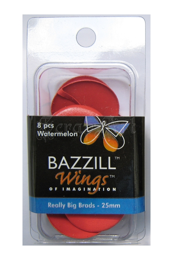 Really Big Brads 25mm Watermelon - Bazzill Basic Paper