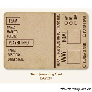 Team  - Journaling Card