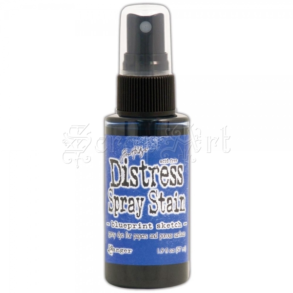 tekutá barva - July - Blueprint Sketch Distress Spray Stains 1.9oz Tim Holtz - Ranger