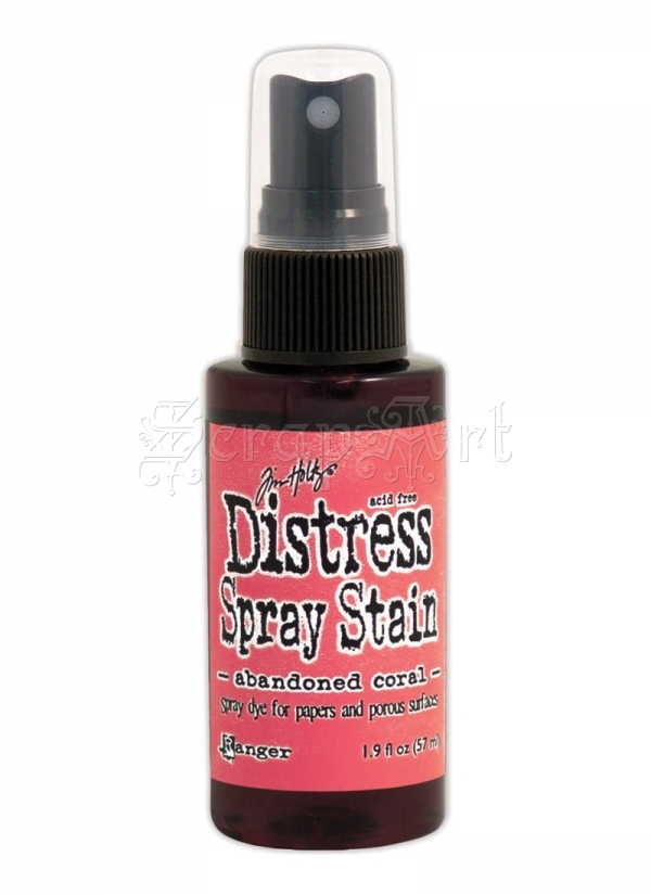 tekutá barva - February-Abandoned Coral Distress Spray Stains 1.9oz Tim Holtz - Ranger