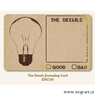The Details  - Journaling Card
