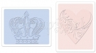 657664 Textured Impressions Embossing Folders 2PK - Crown & Heart Set