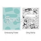 657857 Textured Impressions Embossing Folder Stamp - Postage & Frame Set