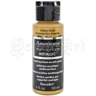 akrylová barva - Americana Multi-Surface Metallic Acrylic Paint 2oz Yelow Gold DecoArt