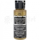akrylová barva - Americana Multi-Surface Metallic Acrylic Paint 2oz Gold DecoArt