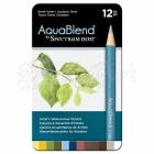 Akvarelové pastelky - AquaBlend Watercolour Pencils Earth Tones 12pcs Spectrum Noir Crafter´s Companion