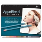Akvarelové pastelky - AquaBlend Watercolour Pencils Essentials 24pcs Spectrum Noir Crafter´s Companion