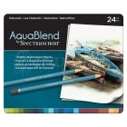 Akvarelové pastelky - AquaBlend Watercolour Pencils Naturals 24pcs Spectrum Noir Crafter´s Companion