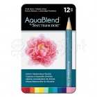 Akvarelové pastelky - AquaBlend Watercolour Pencils Vivid Hues 12pcs Spectrum Noir Crafter´s Companion