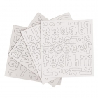 Alphabet Chipboard Margarita - Brown - Bazzill Basic Paper