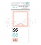 bločky Post-it - Hello, Designer Desktop Essentials Sticky Notes Pad American Craft