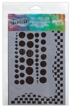 "šablona / maska - Chequered Dots 5x8"" Dylusions Stencil The Crafters Workshop"