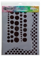 "šablona / maska - Dylusions Stencil Chequered Dots 9x12"" The Crafters Workshop"