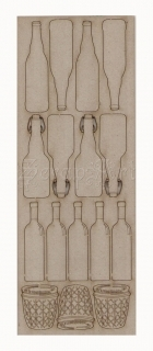 chipboard - Bottles WOW2128 WOW