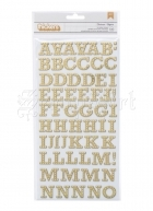 chipboard - Brighton Pier Thickers Alpha Stickers Gold Foil American Craft