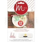 chipboard - Christmas Chipboard Numbers 31 Pkg Minc Heidi Swapp