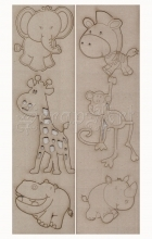 chipboard - Cute ZOO Animal WOW1073 WOW