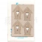 chipboard - Mini Birdhouses WOW1392 WOW