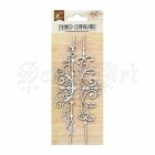 chipboard - Primed Chipboard 2pcs - Scroll Border Little Birdie