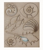 chipboard - Seashell WOW2055 WOW