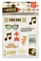 Chipboard Buttons - Hipster Basic Grey