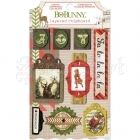 Christmas Collage Layered Chipboard Self-Adhesive Bo Bunny