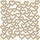 Chunky Heart Panel Chipboard - Blue Fern Studios
