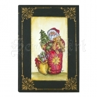 cling gumové razítko - Quilted Santa Cling Rubber Stamps Stampendous