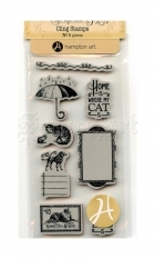cling gumová razítka - Raining Cats and Dogs Cling Stamps #3 - Graphic 45