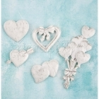 dekorace z pryskyřice - Hearts Shabby Chic Treasures Resin Prima Marketing Inc.