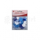 Flowers - Blue Mix - Buttons - Woodware Craft Collection