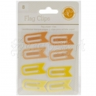Flag Clips Yellow and Orange - Studio Calico