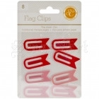 Flag Clips Red and Pink - Studio Calico