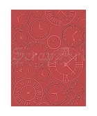embossovací kapsa - eBosser Embossing Folders Letter Size About Time - Teresa Collins - Craftwell