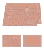 embossovací kapsa - eBosser Embossing Folders Letter Size Perseverance - Craftwell