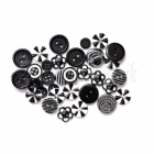 knoflíky - Button Bouquet Assortment 36 Pkg Black Queen & Co